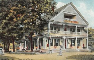 LPV91 Amsden Vermont VT Postcard Downers Hotel