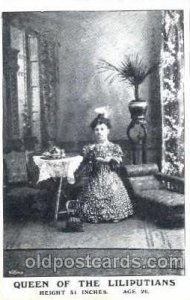 Queen of the Liliputians, Smallest Person, Midget, Dwarf, Circus Unused light...