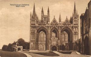 Peterborough Cathedral West Front Cattedrale Postcard