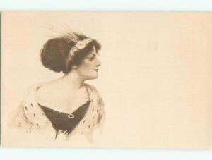 Divided-Back PRETTY WOMAN Risque Interest Postcard AA7956