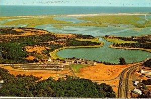 Massachusetts Cape Cod National Seashore Aerial View Salt Pond Visitor Center