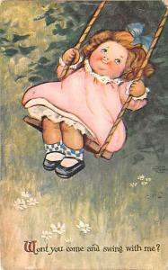Wont you come and swing with me, EH Saunders, Signed 1911