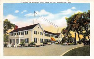 Janesville Wisconsin~Veterans of Foreign Wars Club House~Antenna? on Roof~1940s