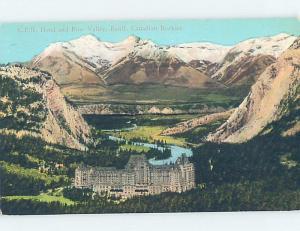 Unused Divided-Back HOTEL SCENE Banff Alberta AB B1851