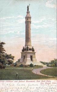 Connecticut New Haven Soldiers and Sailors Monument East Rock Park 1909