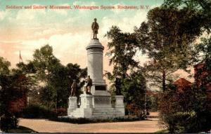 New York Rochester Washington Square Soldiers and Sailors Monument 1910