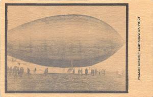 Italian Airship Leonardo Da Vinci Postcard