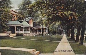 Ohio Piqua View On North Caldwell Street Rotograph