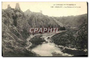 Old Postcard Crozant Ruins and Creuse