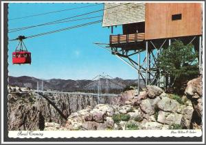 Colorado Aerial Tramway Royal Gorge Postcard