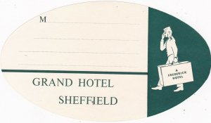 England Sheffield Grand Hotel Vintage Luggage Label sk2360