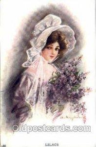 Artist Lillian Woolsey Hunter, 1908 postal used 1908