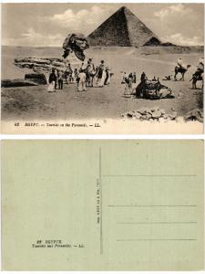 CPA EGYPT Egypt-Tourists on the Pyramids (421461)
