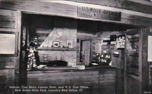 Illinois New Salem Interior First Berry Lincoln Store 1946