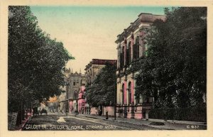 CALCUTTA Sailor's Home, Strand Road INDIA Hand-Tinted c1910s Vintage Postcard