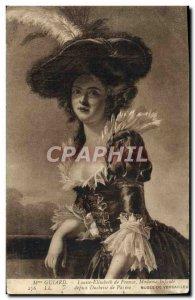 Old Postcard Mrs Guiard Louise Elisabeth de France Duchess of Parma Museum of...