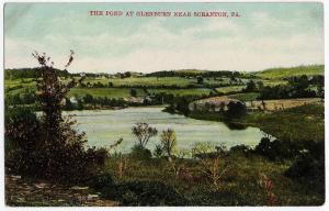 1907 The Pond at Glenburn Near Scranton PA Lackawanna RARE Woolworth DB Postcard