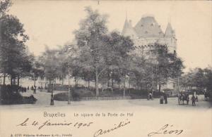Belgium Brussels Le Square de la Porte de Hal 1905