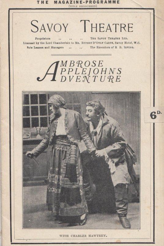 Ambrose Applejohns Adventure Cornwall Pirate Romance 1926 Theatre Programme