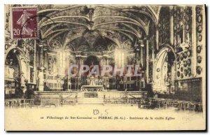 Old Postcard Pilgrimage of St. Germaine in Pibrac (H G) Interior of the Old C...