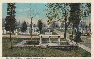 ALEXANDRIA, Virginia, 1900-10s; Grave of the Female Stranger