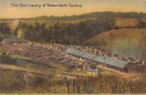 Asheville North Carolina McEwen Lumber Co Logging Vintage Postcard JJ658801