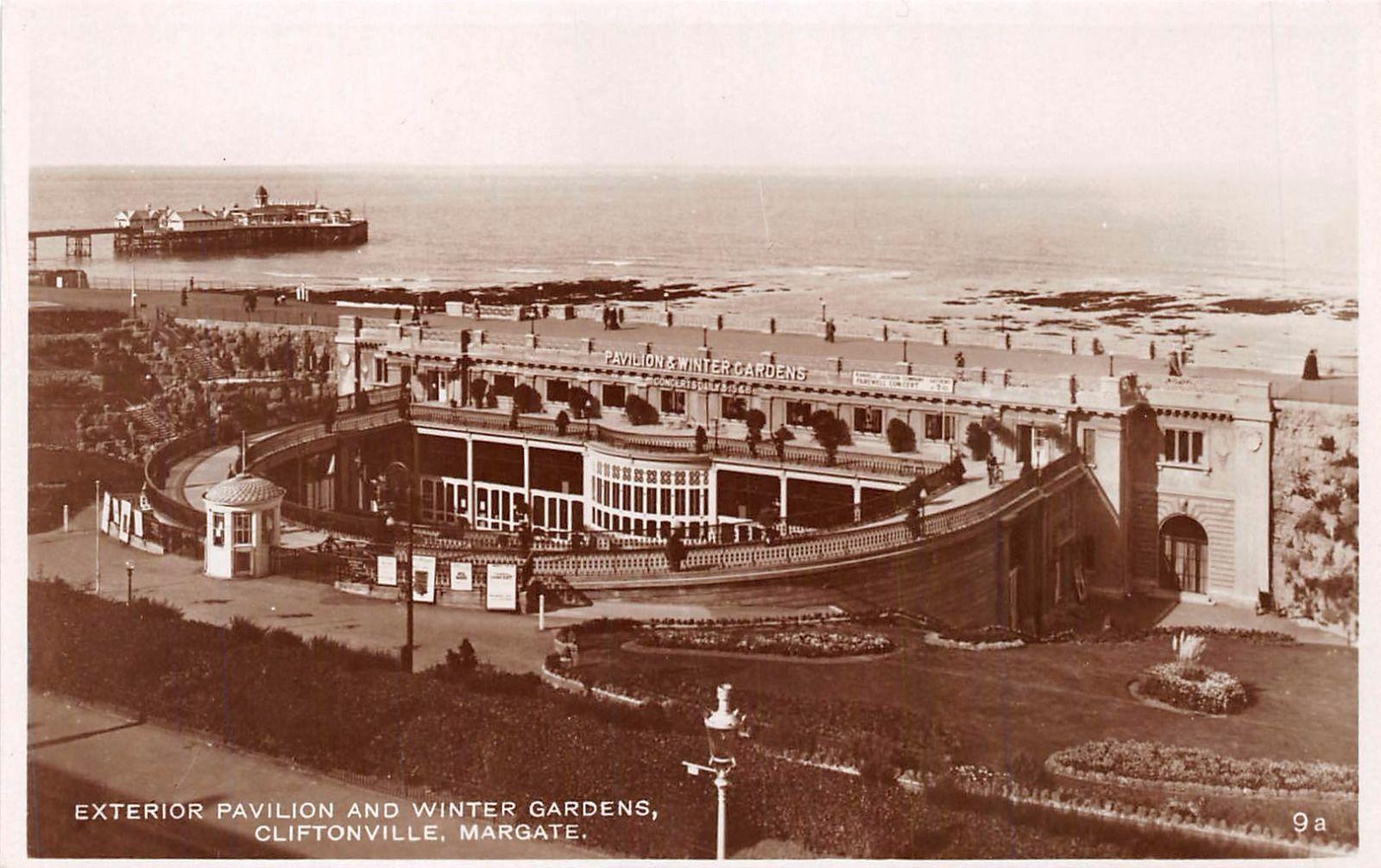 cliftonville kent uk lot of 3 photo postcards bathing pool