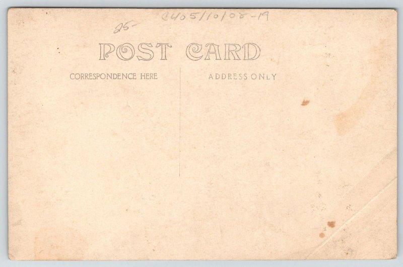 Real Photo Postcard~Tool Room Workmen~Grinding Wheel~Pot Belly Stove~c1910 RPPC