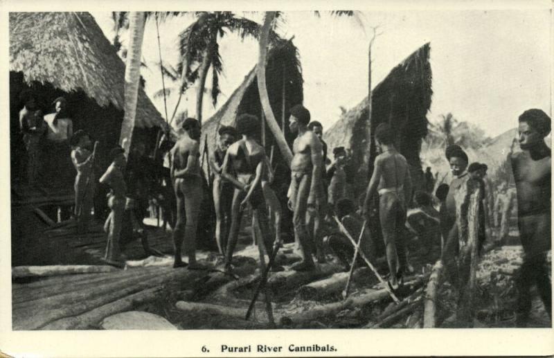 papua new guinea, PURARI River Cannibals, Native Headhunters (1930s)