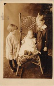 F19/ Lock Haven Pennsylvania RPPC Postcard c1910 Baqby Kids Chair