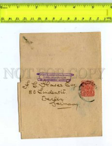 222309 NEW SOUTH WALES to GERMANY POSTAL STATIONERY COVER