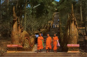 Thailand - Chiangmai. Stairs to Temple, Suthep Mountain