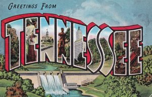 Large Letter Greetings TENNESSEE , PU-1943 ; Type-3