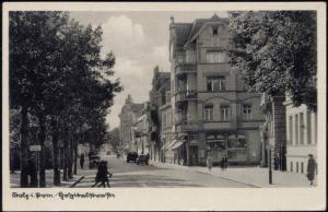 poland pomerania, STOLP SŁUPSK, Street Scene (1930s)