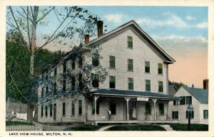 NH - Milton. Lake View House (Hotel)