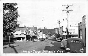 Enumclaw WA Storefronts Ice Cream Kodak Cameras Old Cars RPPC