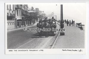 pp2283 - The Sangate Tramway on Sandgate Seafront - Pamlin postcard