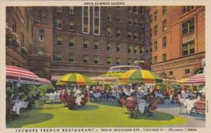 Illinois Chicago Jacques French Restaurant Outdoor Patio Curteich