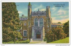 University Library , Bethlehem , Pennsylvania , 30´s 40´s