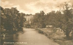 United Kingdom Warwick Castle, from the Bridge, early 190...
