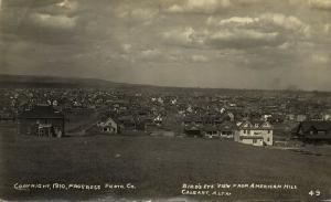 canada, CALGARY, Alberta, Birds Eye View American Hill (1910) Progress Photo Co.