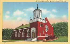 Postcard St. Mary's Church Hot Springs Arkansas