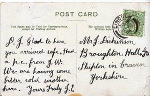 Genealogy Postcard - Family History - Dickinson - Skipton in Craven Yorks  U3738