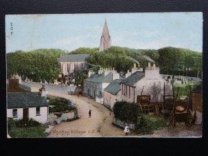 Isle of Man ONCHAN VILLAGE shows REFRESHMENT HOUSE & Pony Traps c1912 Postcard