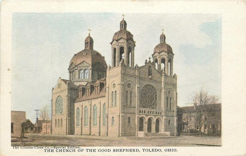 Toledo OH~The Church of the Good Shepherd~1905 Clinton Close Co Postcard