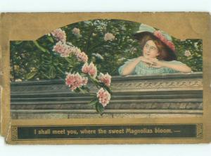 Divided-Back PRETTY WOMAN Risque Interest Postcard AA8017