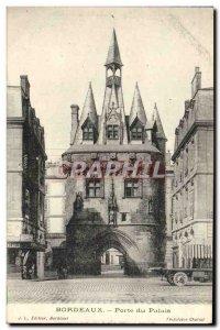 Old Postcard Bordeaux Palace Gate