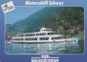 Motorschiff Schwyz German Cruise Ship Liner Postcard