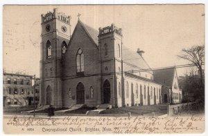 Brighton, Mass, Congregational Church - Rotograph