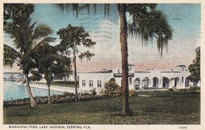 SEBRING, Florida, PU-1940; Municipal Pier, Lake Jackson